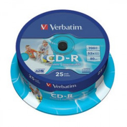 CD-R VERBATIM 700MB 52X-80 MIN