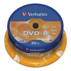 DVD-R VERBATIM 4,7 GB-16X-120MIN